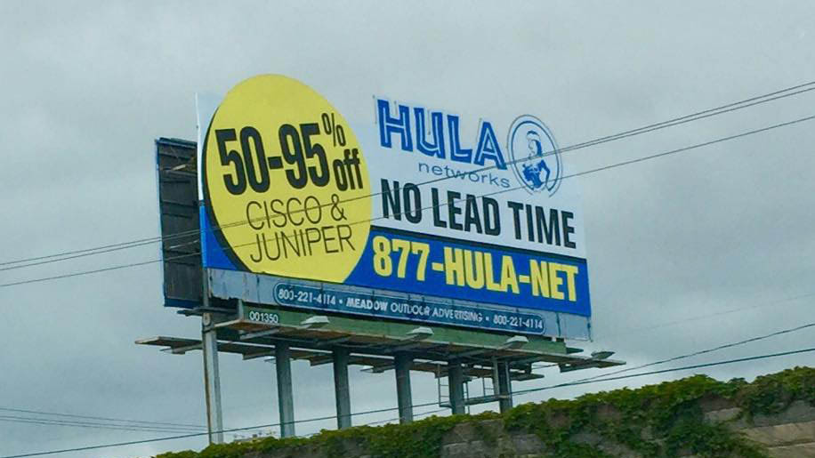 You can save between 50% - 90% when you buy used Cisco and Juniper networking equipment at Hula